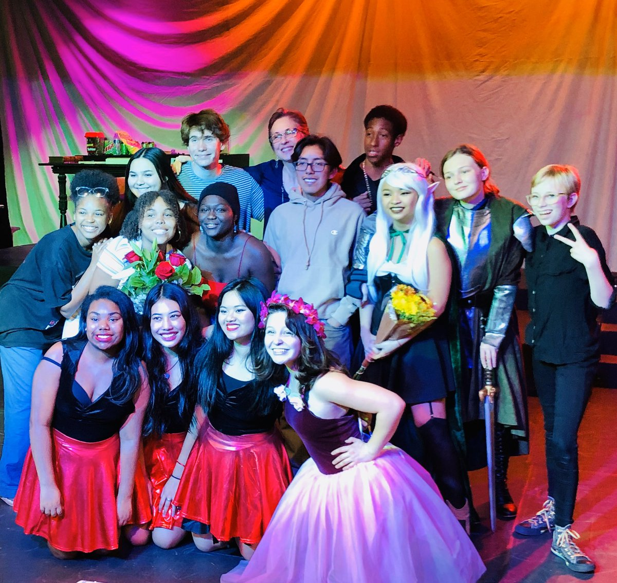 """@lbpolydrama 's cast and crew of """"She Kills Monsters""""...#proudtobeLBUSD"""