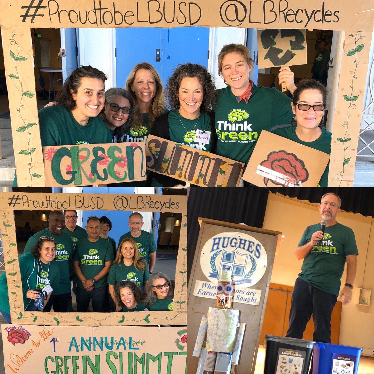 #LBGreenSummit2019 was an incredible success! Thanks to @RogersGreenTeam @SuptSteinhauser, @megankerr, @deesteinberg, @karin_wasinger, @LBSchools, @jbaker000, @Algalita, @GradesofGreen, @HughesOwls, @lucysalazar & 150 of our closest green friends! #proudtobeLBUSD