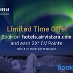 Image for the Tweet beginning: Earn double Club Vistara Points