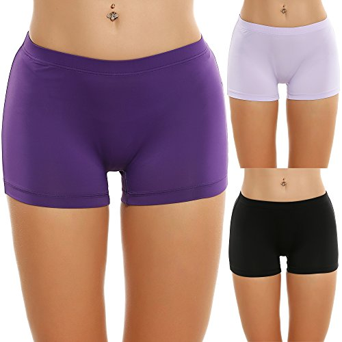 Merry Style Damen Unterhose Hipster Hot Pants mit Spitzenbesatz MSGAB155