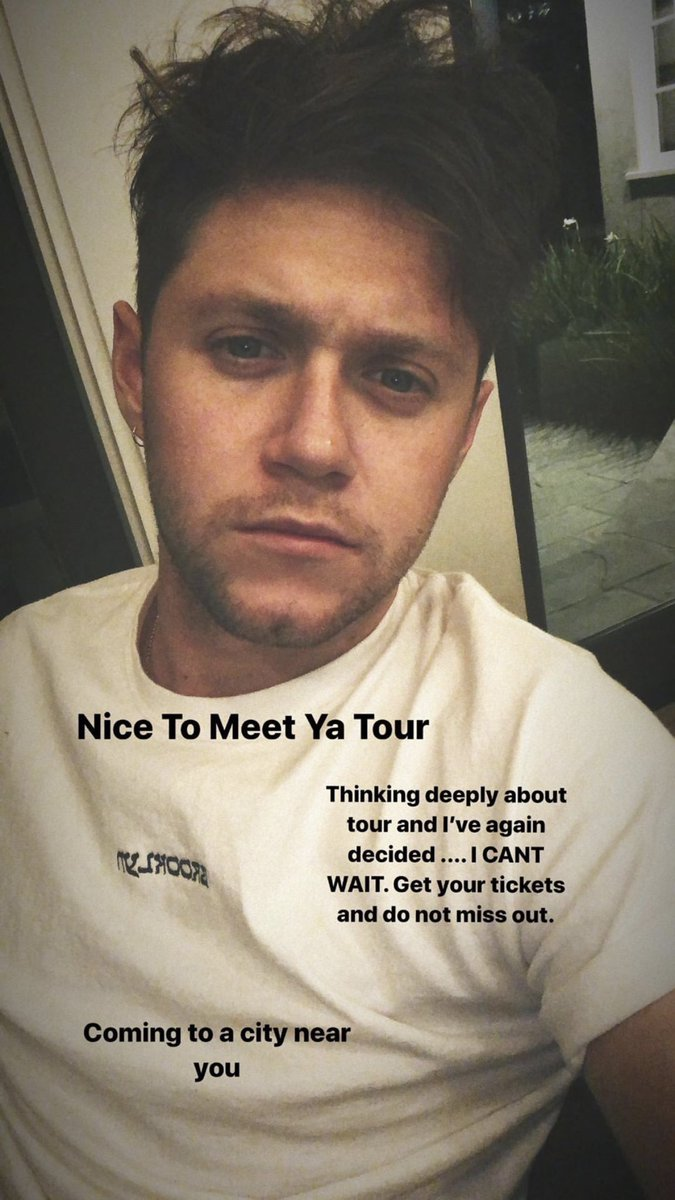 hi Niall, nice Brooklyn shirt... I'll see you in Brooklyn in April because that's the city near me I CANT WAIT ;)) @NiallOfficial #NiceToMeetYaTour