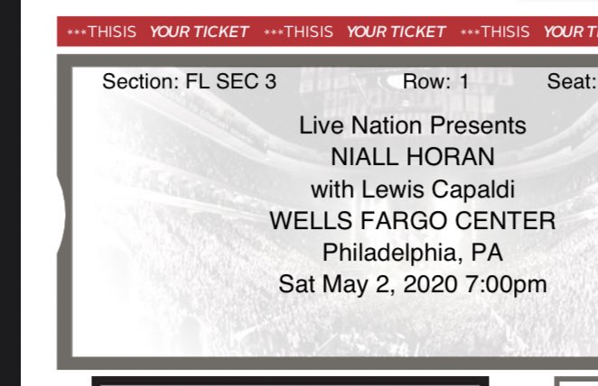 niall i can't wait to see you front row in philly and at bstage in dc. still working on the brooklyn tickets #NiceToMeetYaTour #nicetomeetyaworldtour