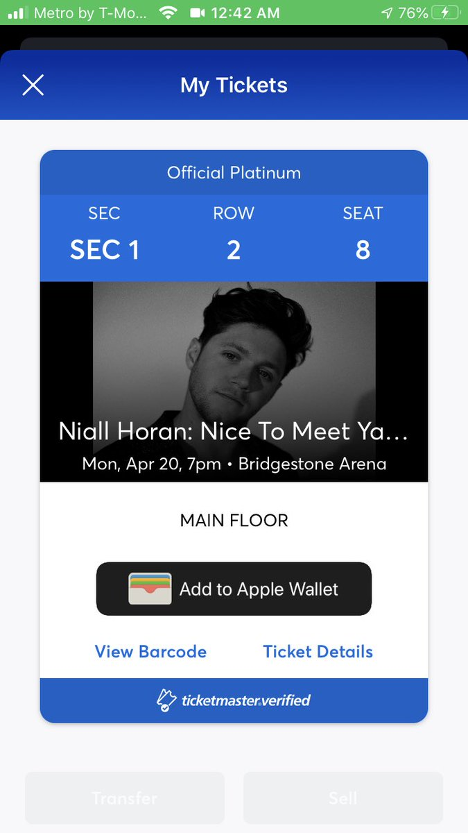 niall can't wait to see you in nashville!!! can't wait to dance the night away 💃🏻 #NiceToMeetYaTour @NiallOfficial