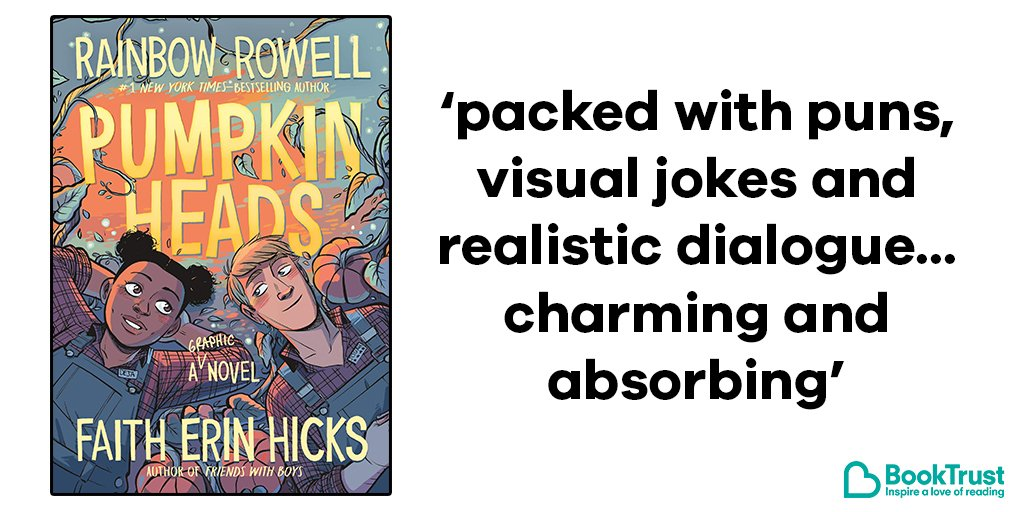 Todays #BookOfTheDay is the charmingly autumnal graphic novel Pumpkin Heads by @rainbowrowell and @FaithErinHicks bit.ly/2OauBKu @MacmillanKidsUK