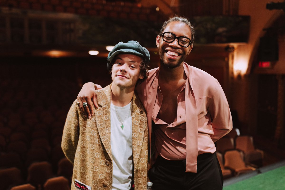 Harry with Jeremy O'Harris at Slave Play on Broadway - November 10 <br>http://pic.twitter.com/emY5lb0zyf