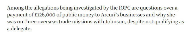 £126,000? The Observer seems to think the IOPC's investigation includes the DCMS grant to #HackerHouse, although that was well after Johnson's term as Mayor of London and has already been investigated by the GIAA. https://t.co/kPeUhhGl3U https://t.co/3aLaVrSAdP