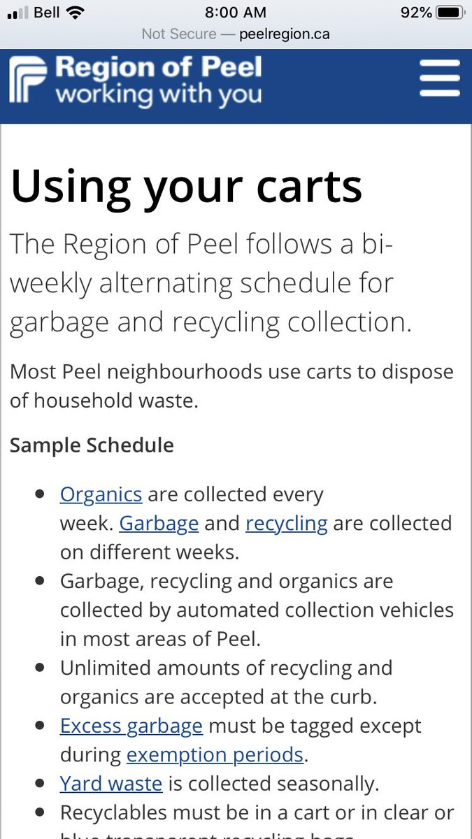 Maureen Wilson On Twitter City Of Mississauga Bi Weekly Waste Collection