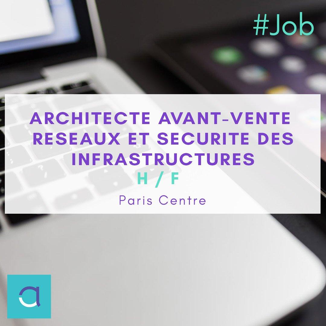 🔵 OFFRE #EMPLOI : N'attendez pas pour #postuler à notre offre d'#architecte #avant #vente #réseaux et #sécurité des #infrastructures (H/F) 😍 à #Paris !! Postulez par ici : http://ow.ly/XAml30pN7ZX #altaide #recrutement #job #jobsearch #web #digital #cloud