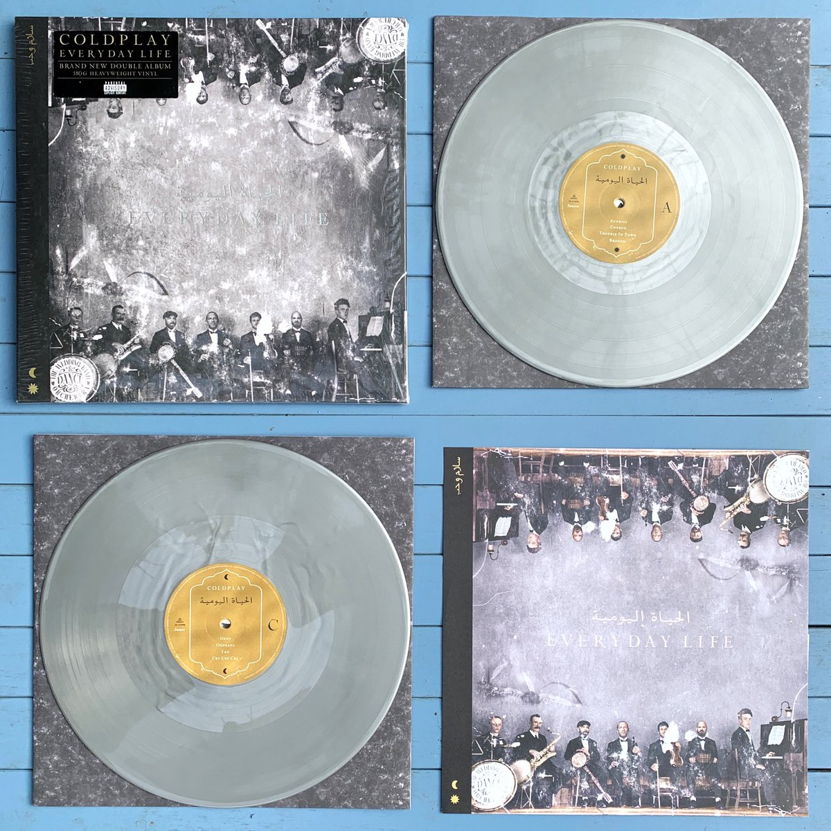 FIVE DAYS until #EverydayLife. Order the album on silver double vinyl, exclusively from the Official Coldplay Store. A -> coldplay.lnk.to/EverydayLifeVI…