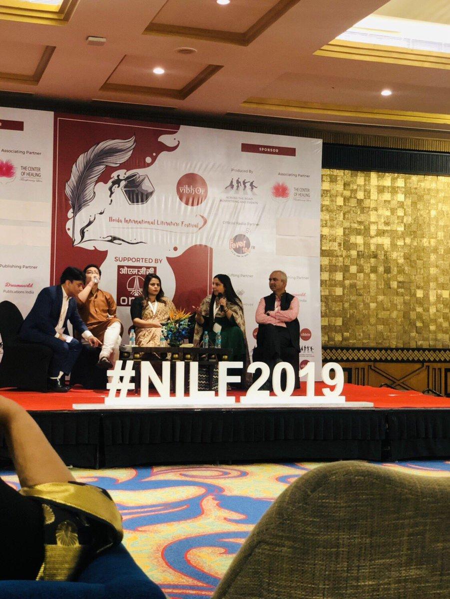 Session with panelists @CharuPragya @RajatSethi86 @rasheedkidwai @AmritaDhawan1 on politics on social media.#NILF2019 @NoidaLitFest