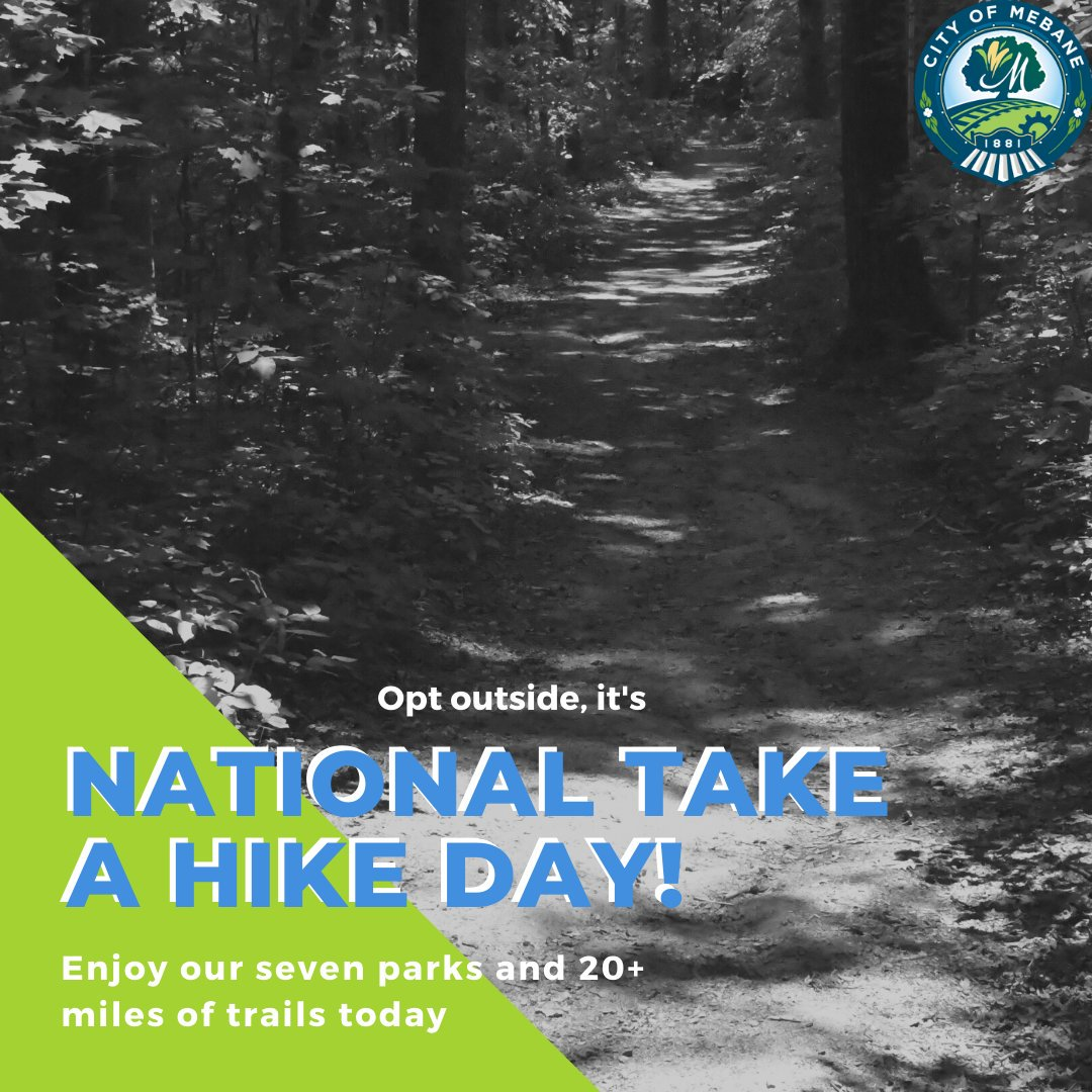 Warm up in this chilly weather with a hike around our parks and trails for #NationalTakeAHikeDay.