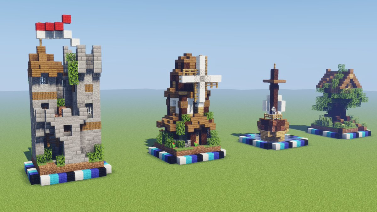 Pixlriffs On Twitter Got Some Lovely 8x8 Builds Made The Pirate Ship Might Not Make It To The Microbuilds Series But I M Super Happy With The Castle The Windmill Is Pretty