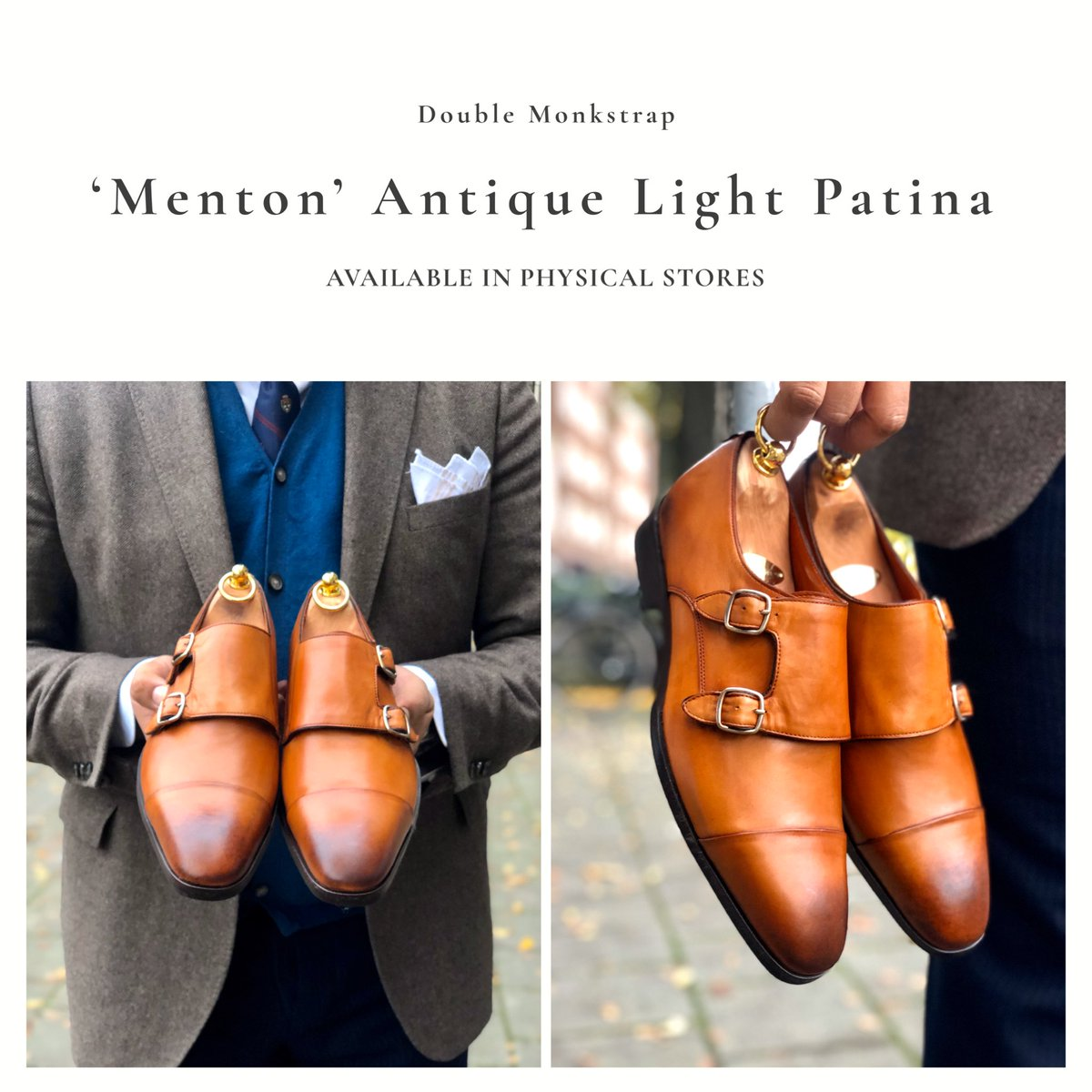 'Menton' Antique Light Patina  Available in physical stores.  Limited Edition.    #reinhardfrans #handmade #shoes #madewithlove #limitededition #menton #patina  #stylish #shopping #onlineshopping