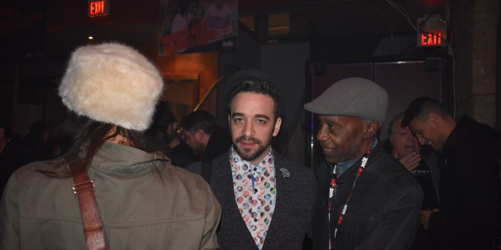 "Lily Frost, Ori Dagan and myself having a chat at the Indie Week launch party😎 . Download or stream my new single ""Jah Children"" HERE:  🎶🔥 . #newmusic #jamaicareggae #indieweek @slammin29 @oridaganj @lily_frost"