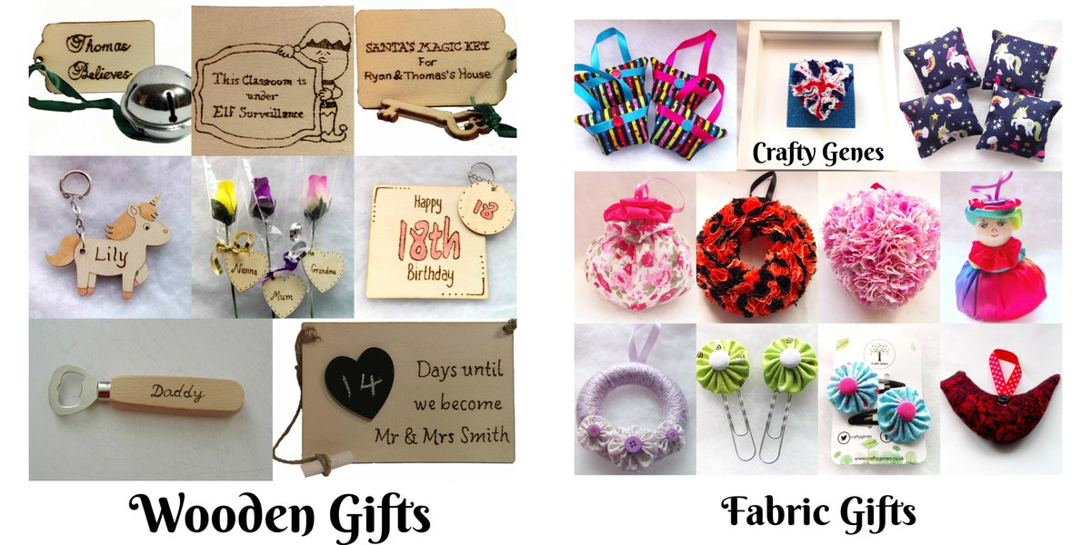 @TheoPaphitis @CraftyGenes offers a range of handmade items made from wood and fabric. Our range keeps on growing from personalised to home decor to scented gifts to now offering hair accessories! #SBS #queenof #handmade #uksmallbiz #madeinyorkshire