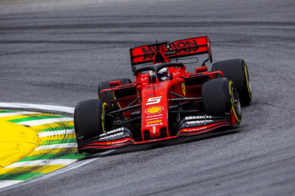 #Seb5 is the fastest on track now 1:12.259. #BrazilGP🇧🇷