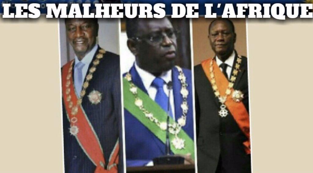 Des presidents IMPOSES par la #france qui utilisent les pouvoirs absolus du colon #france pour perpetuer la colonisation de la #france et le VOLE des ressources destinées a leur Peuple: les malheurs de l'Afrique!#france_DEGAGE#STOPcfa https://twitter.com/UnieAfrique/status/1196001401991811073…