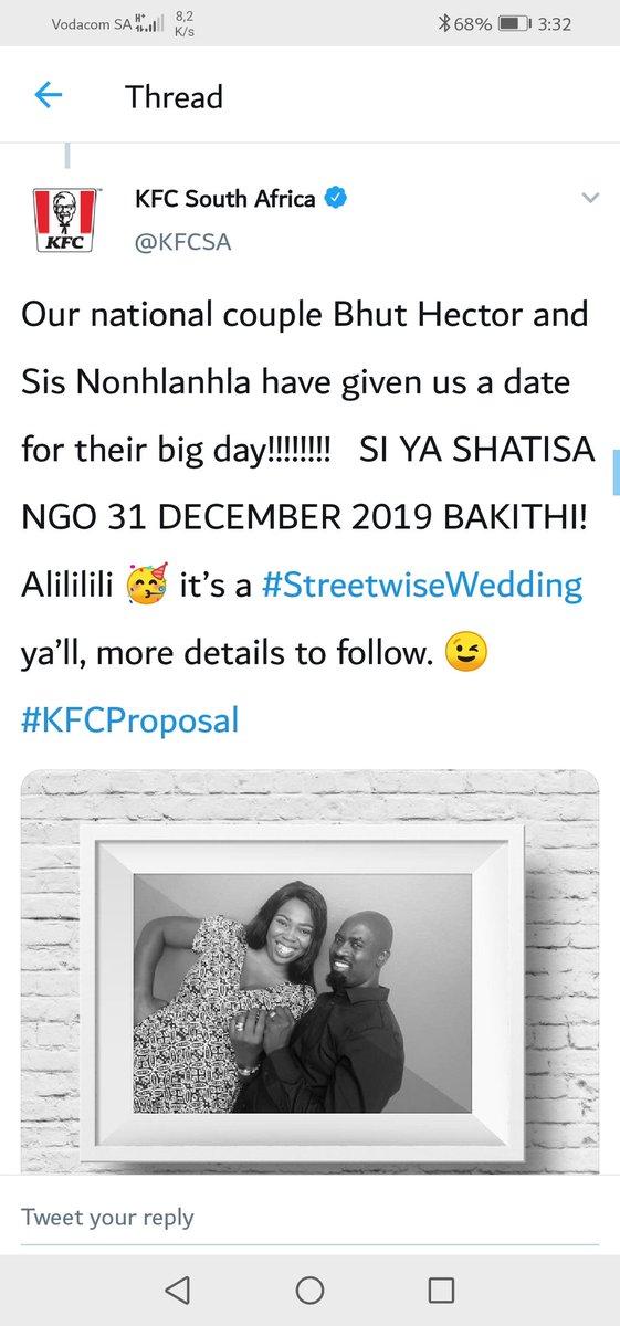 #KFCProposal #StreetwiseWedding #sabcnews #SundayMotivation @OPWMzansi @Mzansimagic @KFCSA @Official_SABC1 @METROFMSA