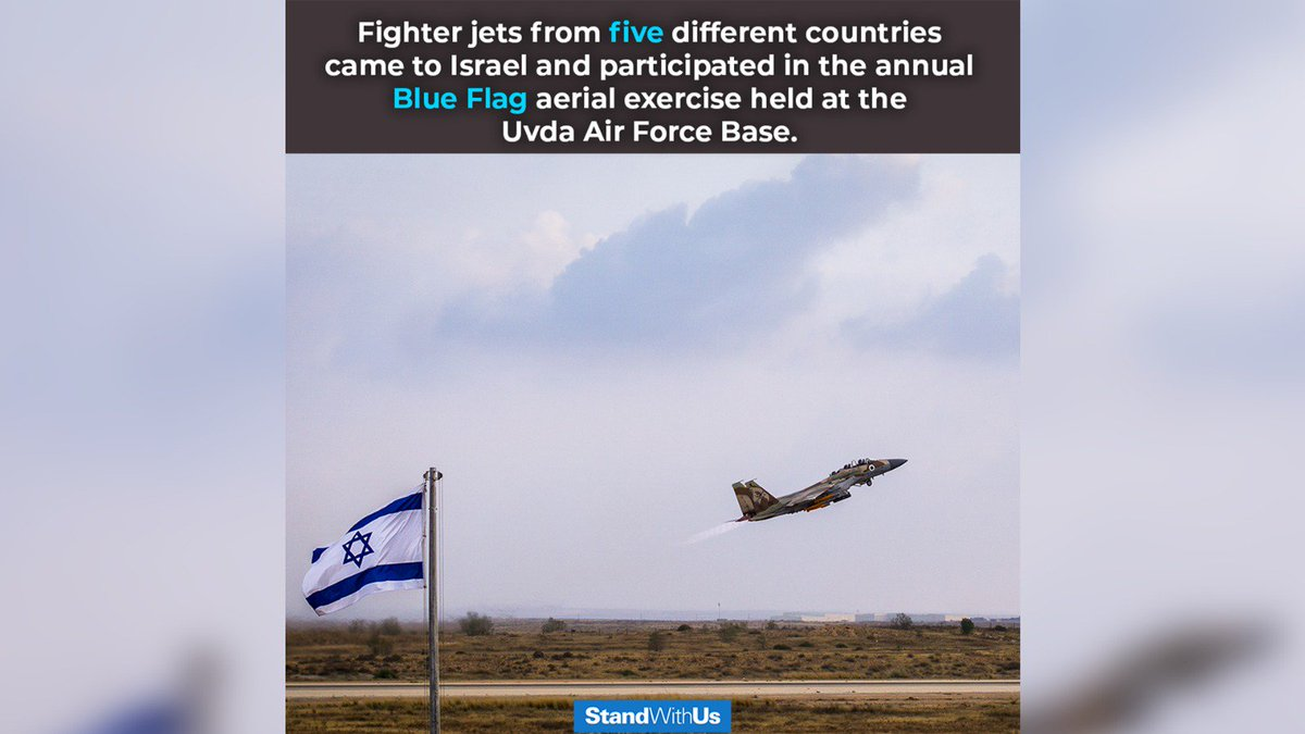 Last week, dozens of fighter jets from five different countries came to Israel and participated in the annual Blue Flag aerial exercise.