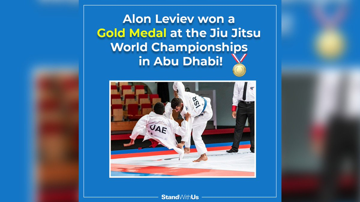17-year-old Alon Leviev from Israel took GOLD at the Jiu-Jitsu World Championships in Abu Dhabi.