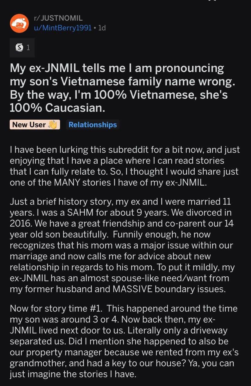 Justnomil On Twitter My Mil Insists I Am Pronouncing My Son S Name Wrong A place to get support and advice dealing with mean, nasty, toxic, and/or abusive mils and moms. justnomil on twitter my mil insists i