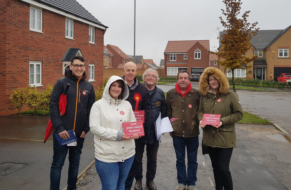 Rain wont stop us in Hucknall ☔🌧🦆 Weve been out in Hucknall West with our Labour candidate in the General Election Jerry Hague talking to residents about the election and the changes that they want to see in how our country is run. #labourdoorstep #VoteLabour2019
