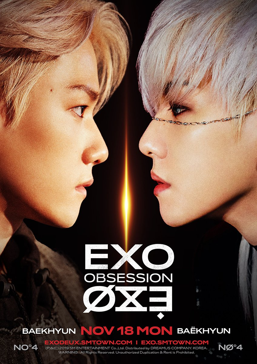 EXO 엑소 VS X-EXO 엑스-엑소 #BAEKHYUN  🎧 2019.11.27. 6PM (KST) 👉  ✔ The first result comes out at 6 am(KST), and it will be updated every 6 hours.  #EXO #엑소 #weareoneEXO #EXOonearewe @exoonearewe #OBSESSION #EXODEUX