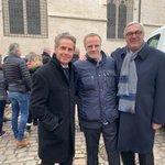 Avec Alain SUGUENOT maire de #Beaune et Christophe LAMBERT qui va investir dans la Cité des vins et des #Climats avec un hôtel 5 étoiles. Un ami de la @CD_CotedOr et de Beaune où il se rend souvent