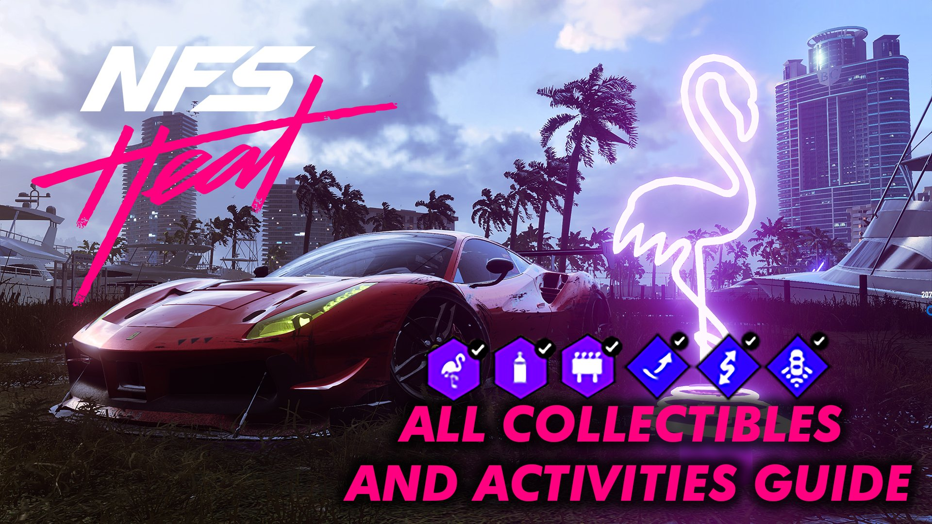 need for speed heat collectibles locations map