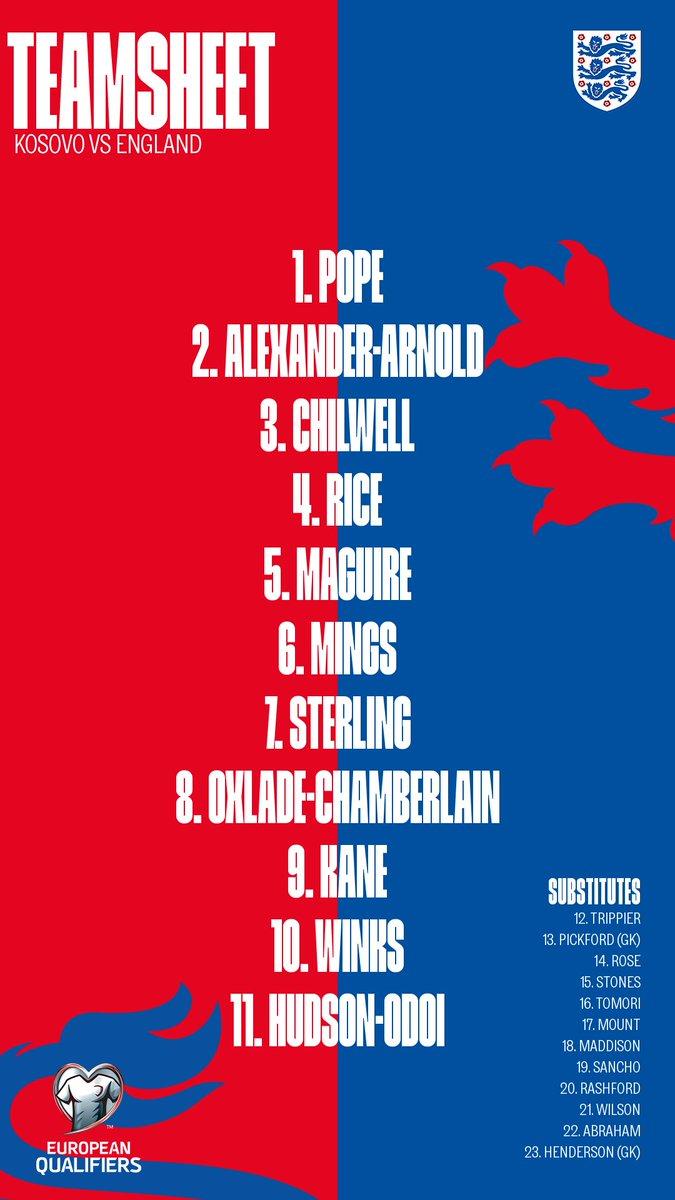 Éliminatoires Euro 2020 : Raheem Sterling titulaire avec l'Angleterre contre le Kosovo