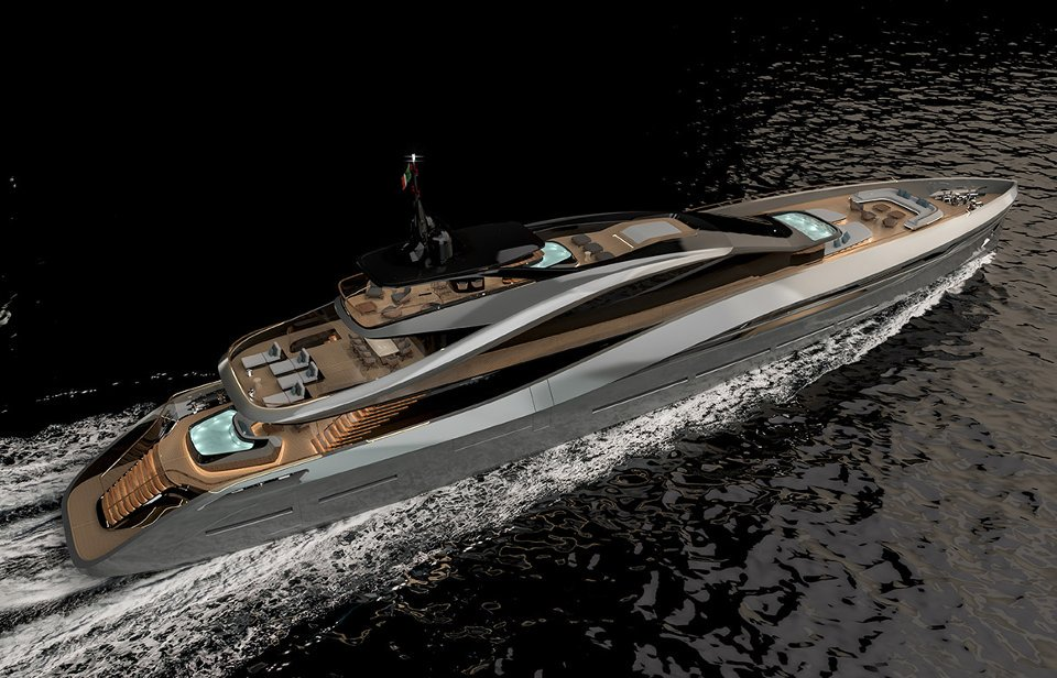 Italy's Rossinavi shipyard and powerhouse design firm Pininfarina unveiled new superyacht concept on.forbes.com/601813atg