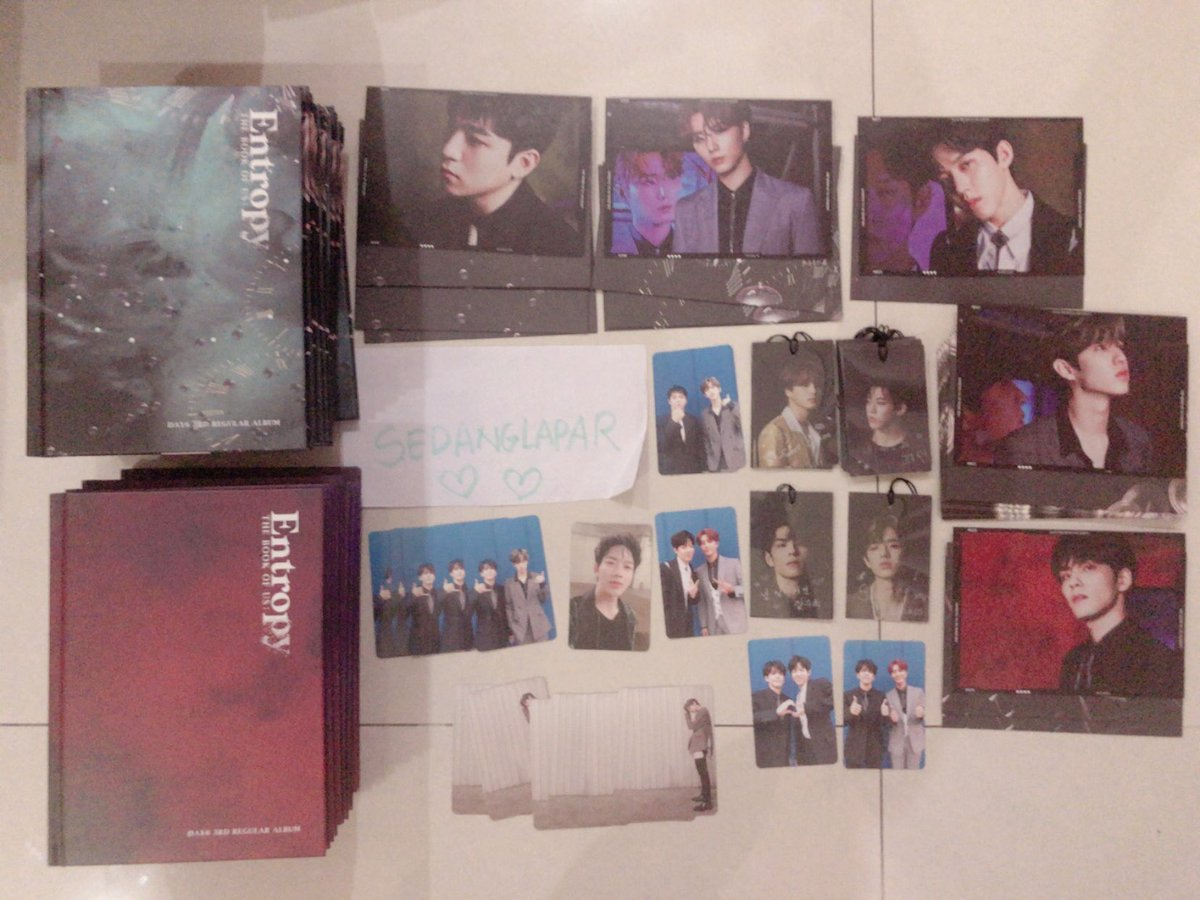 Want To Sell WTS   DAY6 Entropy Album Goods - Sealed 215k - Album Only 85k - PC All member 75k - Postcard All member 35k - Bookmark All member 35k  Shopee links:    Sealed:  https:// shopee.co.id/product/441900 6/6606396820?smtt=0.0.9  …  Other:  https:// shopee.co.id/product/441900 6/5706396148?smtt=0.0.9  …   #wtsday6stuff #day6 <br>http://pic.twitter.com/mmvDYa2ecp