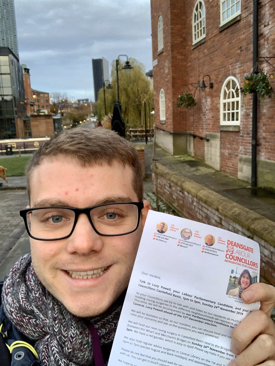 Been delivering letters to residents in Castlefield today to let them know about our street stall in Castlefield Basin next Sunday 1pm - 3pm with @LucyMPowell