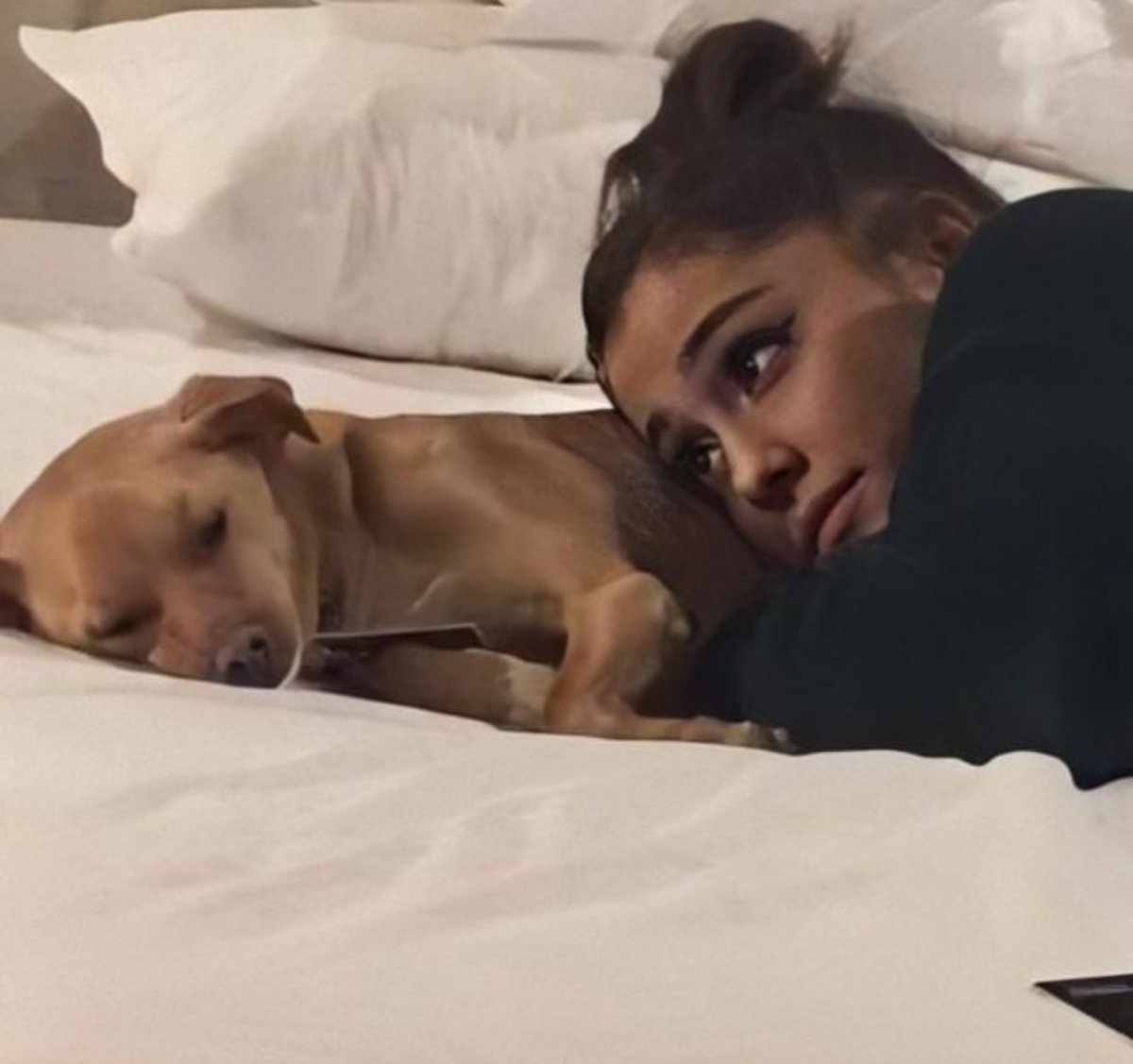 Me looking after Ari and giving her my love and support when she is sick #GetWellSoonAriana