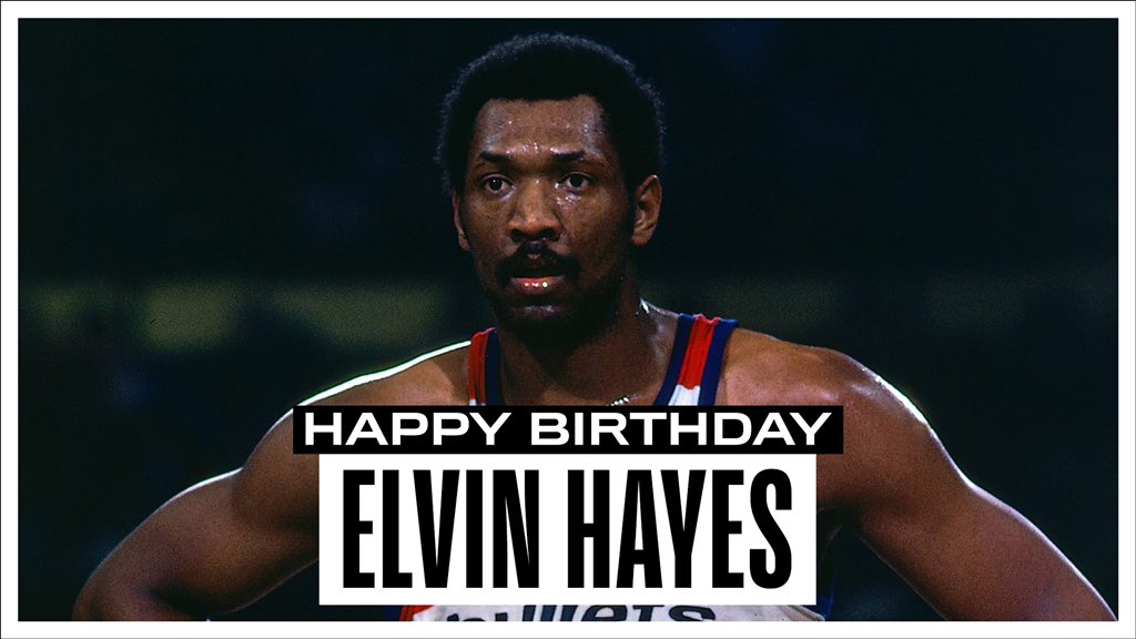 Join us in wishing a Happy 74th Birthday to 12x #NBAAllStar, '78 NBA Champion & @Hoophall inductee, Elvin Hayes! #NBABDAY