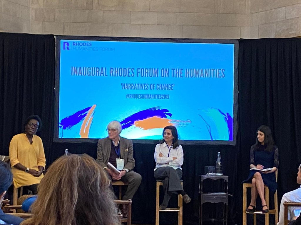 Delighted to speak on truth to power, freedom of thought and speech  at @rhodes_trust #RhodesHumanities2019 at @UniofOxford today