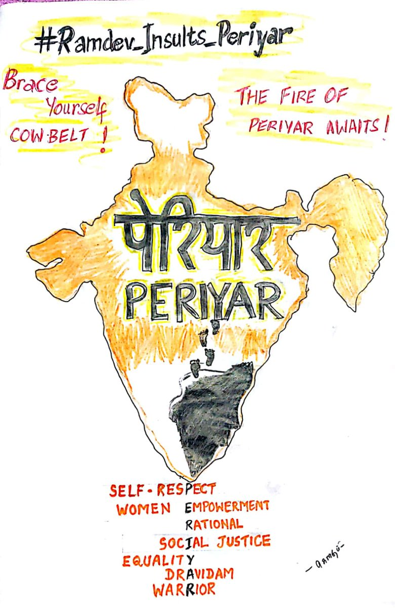 Brace yourself cowbelt !  The fire of periyar awaits !!  #Ramdev_Insults_Periyar<br>http://pic.twitter.com/3ajKp9msJP