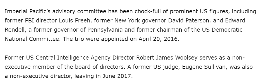 So who is on their board? Louis Freeh, James Woolsey, former PA Gov & DNC Chairman Ed Rendell, Judge Eugene Sullivan, former NY Gov. David Paterson.  Evidence sought goes back to 2013...