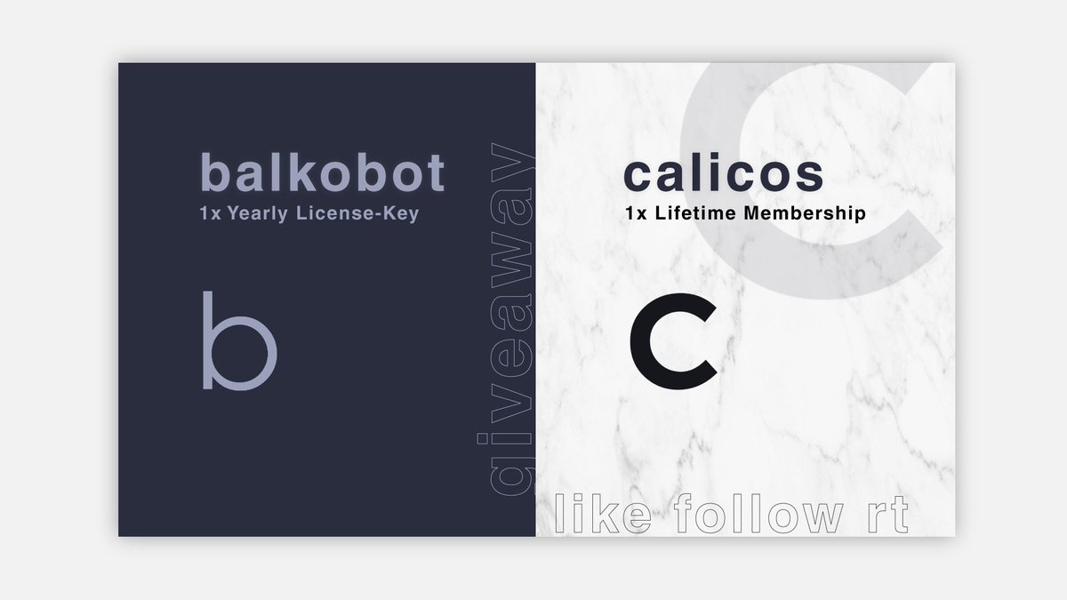 ⚡️FLASH GIVEAWAY⚡️One winner will receive:- Calicos Lifetime- Balkobot Yearly RenewalLike, Retweet, and Follow @calicosio @balkobot. Winner picked in 1 hour.