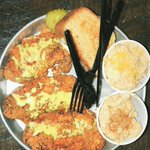 Image for the Tweet beginning: A little hot chicken to