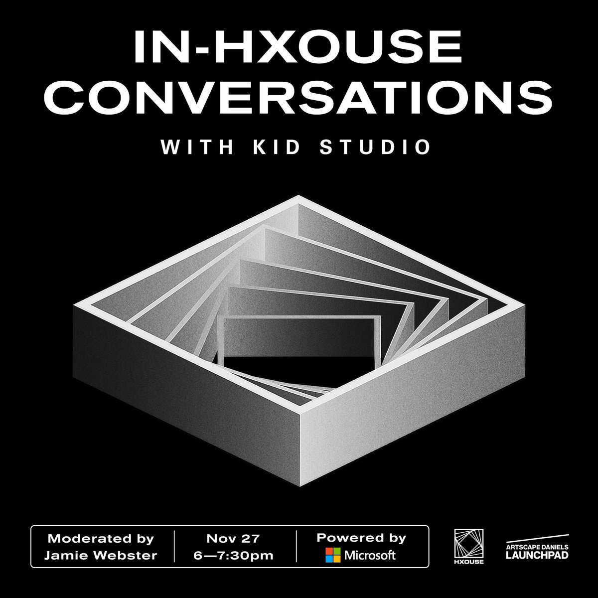 IN-HXOUSE CONVERSATIONS WITH KID STUDIO| NOV 27 | TICKETS — LINK IN BIO