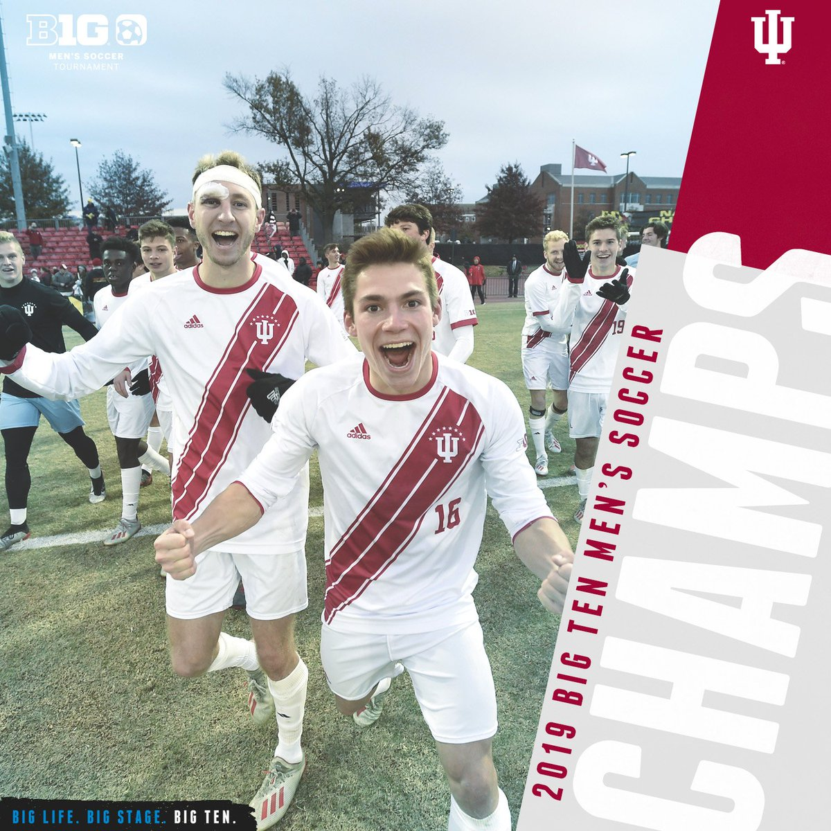 No. 1 @IndianaMSOC captures the #B1GMSOC crown on penalty kicks 4-3 and is back-to-back Big Ten Mens Soccer Tournament Champions