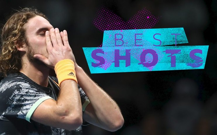 Stefanos Tsitsipas fought back from a set down to beat Dominic Thiem to become the youngest winner of the ATP Finals in 18 years. Here are some of the best shots: https://bbc.in/2NWrfMj