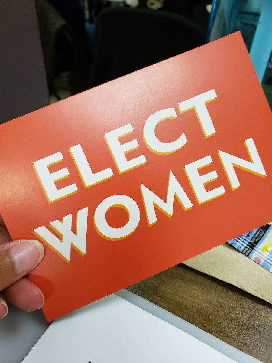 It's Sunday afternoon and there's a roomful of committed, badass women ready to step up and run for office. Hell yes, ladies. Let's do this. #Election2020 #VoteBlue #ElectWomen #LocalElectionsMatter @emilyslist