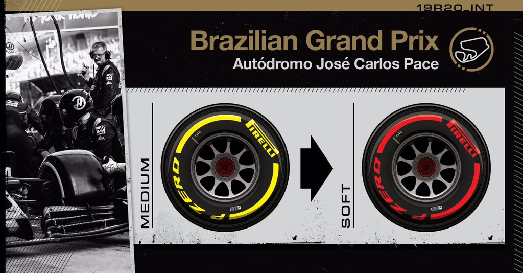 Lap 66/71: GRO pits from P18 and will finish the race on the soft tires. He returns in P17 after Leclerc's retirement.   #HaasF1 #BrazilGP