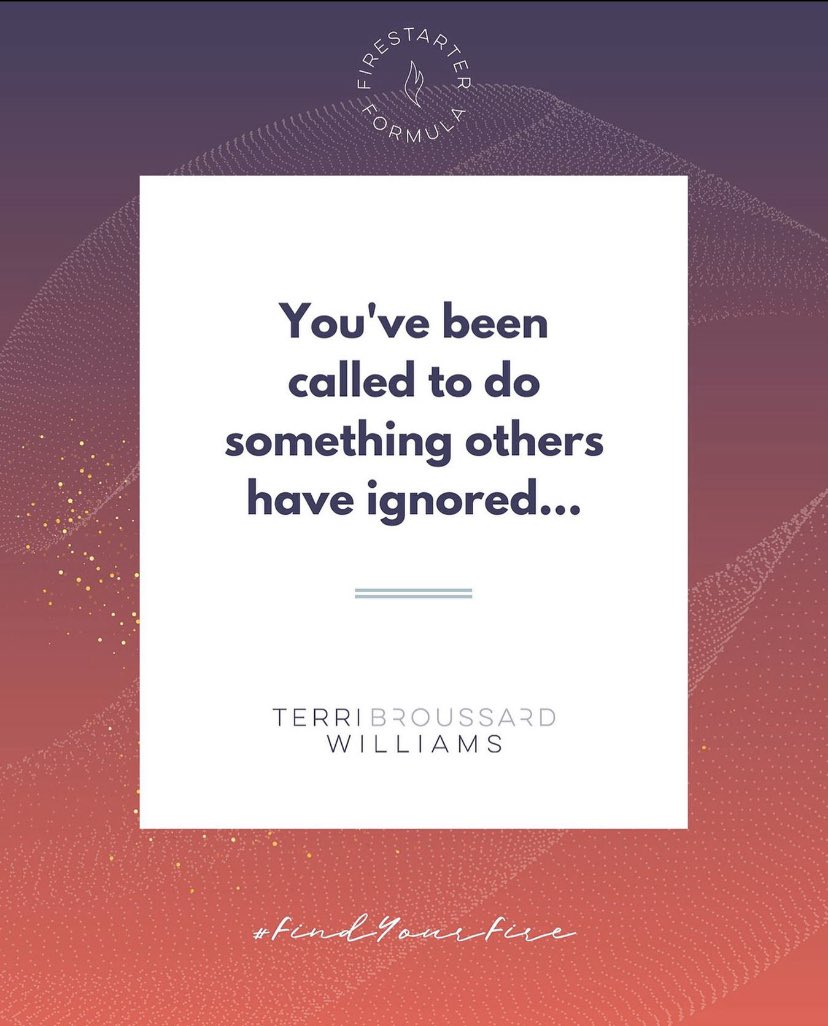 You see it. You can feel it in your gut. You've been called to do something others have ignored. ⠀⠀⠀⠀⠀⠀⠀⠀⠀ #Countdown #Announcement #MovementMakerTribe #FindYourFire #Inspiration #Policy #TerriTalks pic.twitter.com/2515lasWzS