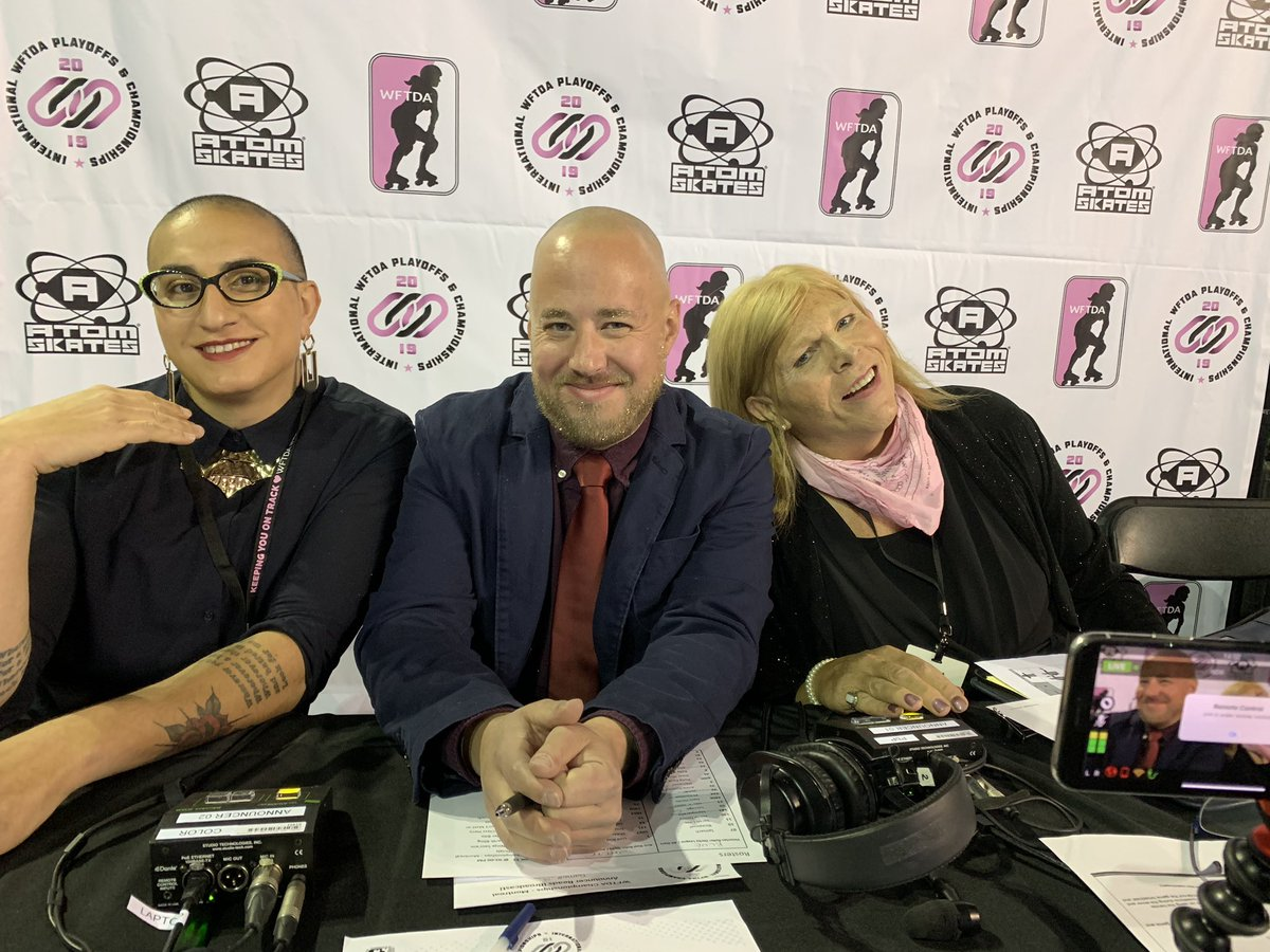Oh hai gorgeous stream team for Arch v Victorian #talk2wftda #WFTDAchamps2019  <br>http://pic.twitter.com/pffk1SokB7