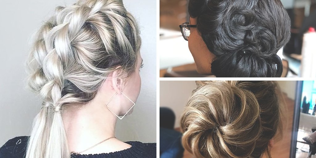 The holidays are coming!  More reasons to wear a glam up-do like these by @ hairbyashly_, @ sinclairdoeshair and @ jnkbridal (IG) at your next festive event.  #autumnstyle #blondehair #brunette #brunettehair #hairgoals #hairinspo #hairinspiration #PMTS #PMTSalumnipic.twitter.com/DeEfKDMvBD