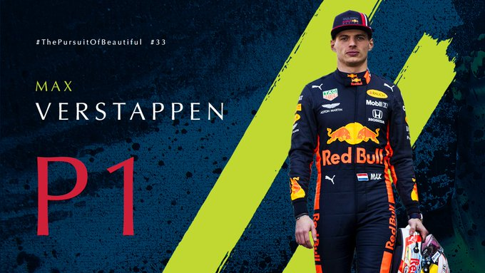 A dominate performance for @Max33Verstappen…