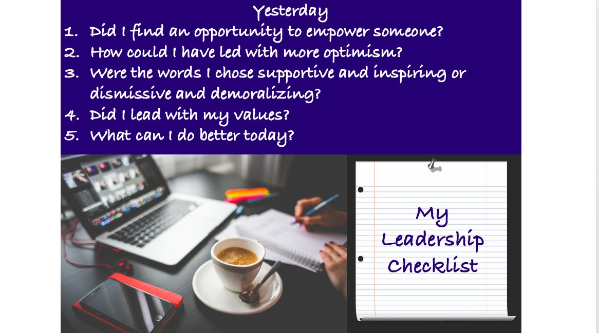 Do you have a leadership checklist?  Busy lives can still reflect...  https://www.adarshainstitute.com/ #leadership #LeadershipDevelopment #community #learning #reflecting #checklist